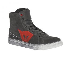 DAINESE STREET BIKER AIR Man Shoes - Black Carbone and Red