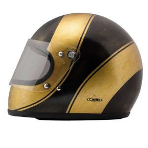 DMD ROCKET SPADES GOLD HANDMADE Full Face Helmet - Gold