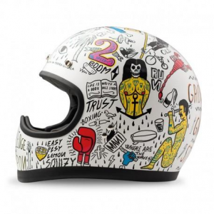 DMD RACER TRIBAL Full Face Helmet - White