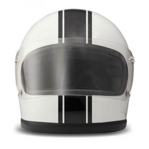 DMD ROCKET RACING Full Face Helmet - White