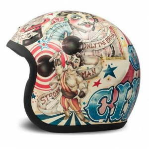 DMD VINTAGE CIRCUS Jet Helmet - Multicolor