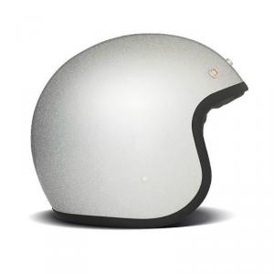DMD VINTAGE GLITTER Jet Helmet - Silver