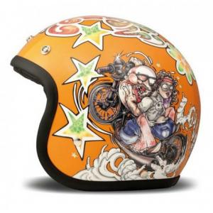 DMD VINTAGE ROCKNROLL Jet Helmet - Orange