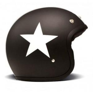 DMD VINTAGE STAR BLACK Casco Jet - Nero