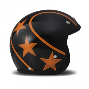DMD VINTAGE STUNT ORANGE Jet Helmet - Black