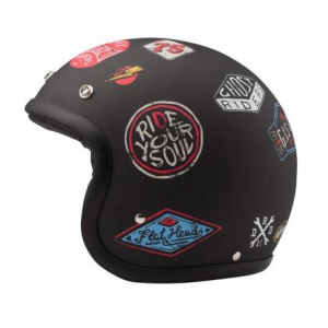 DMD VINTAGE STICKY Jet Helmet - Black