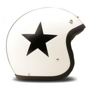 DMD VINTAGE STAR WHITE Casco Jet - Bianco