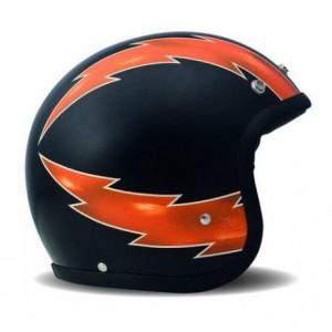 DMD VINTAGE THUNDER Jet Helmet - Black