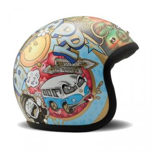 DMD VINTAGE WOODSTOCK Jet Helmet - Multicolor
