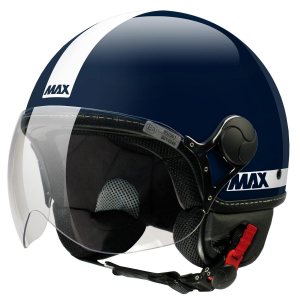 Casco jet Max Power blu