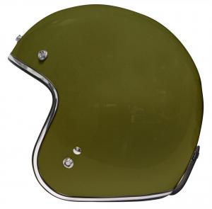 ORIGINE PRIMO SOLID Casco Jet - Verde Militare