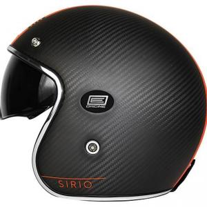 Casco Jet Origine Sirio Style in carbonio nero arancio