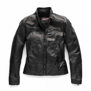 BLAUER NEO Motorcycle Leather Jacket - Black