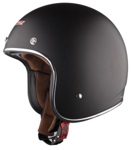 LS2 BOBBER OF583 SOLID Jet Helmet - Dark Black