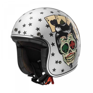 LS2 BOBBER OF583 TATTOO Jet Helmet - Silver