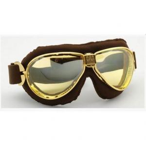 NANNINI TT Helmet Goggles - Gold/Brown