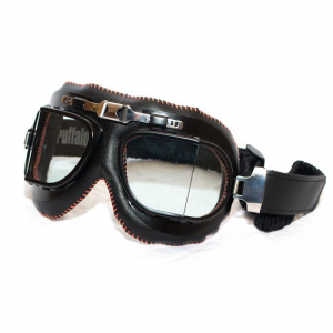 BARUFFALDI VINTACO Helmet Goggles - Black and Orange