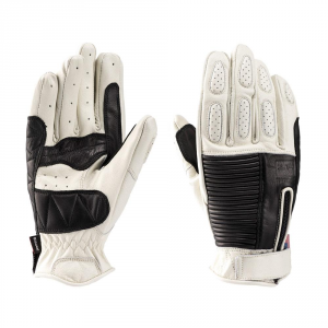 BLAUER BANNER Motorcycle Gloves - Black and White