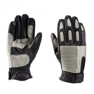 BLAUER BANNER Motorcycle Gloves - Black and Grey