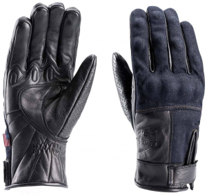BLAUER COMBO DENIM Motorcycle Gloves - Black