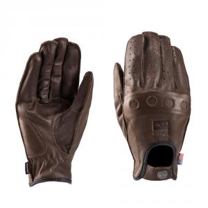 BLAUER ROUTINE Motorcycle Gloves - Brown