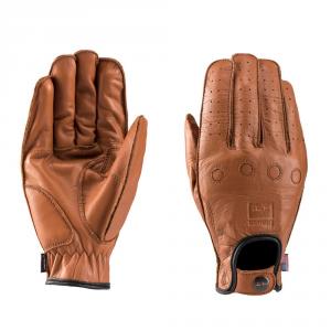 BLAUER ROUTINE Motorcycle Gloves - Biscuit Brown
