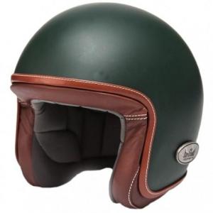 BARUFFALDI ZAR VINTAGE Jet Helmet - Forest Green