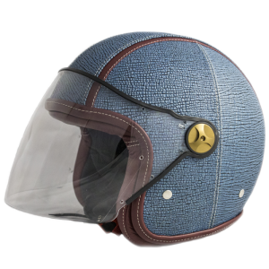 BARUFFALDI ZEON VINTAGE KEFRENE Jet Helmet - Denim Blue