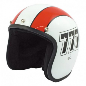 BANDIT 777 Jet Helmet - White and Orange