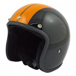BANDIT RACE Jet Helmet - Black and Orange