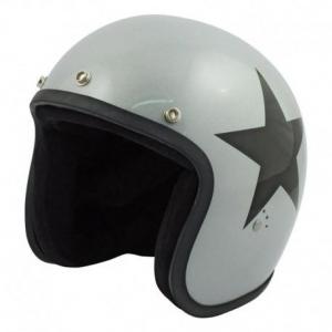 BANDIT STAR Jet Helmet - Silver