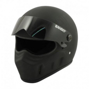 BANDIT SUPER STREET II Full Face Helmet - Matt Black