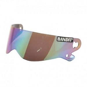 BANDIT XXR - SUPER STREET - CRYSTAL Visiera Casco - Specchio Arcobaleno