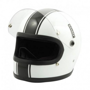 BANDIT INTEGRAL Full Face Helmet - White and Black