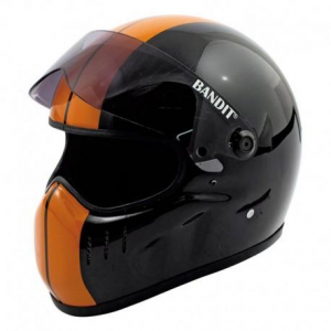 BANDIT XXR RACE Full Face Helmet - Black and Orange
