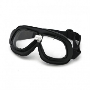 BANDIT CLASSIC Helmet Goggles - Black with Clear Lenses
