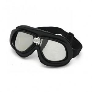BANDIT CLASSIC Helmet Goggles - Black with Mirror Lenses