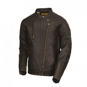 ROLAND SANDS DESIGN Clash Leather Jacket Man - Black