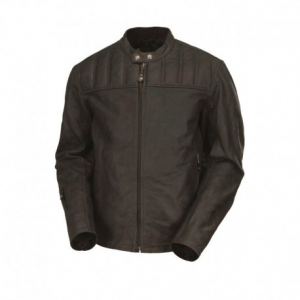 ROLAND SANDS DESIGN Enzo Leather Jacket Man - Charcoal Black