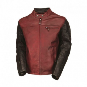 ROLAND SANDS DESIGN Ronin Leather Jacket Man - Blood Red/Black
