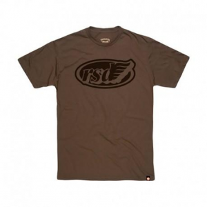 ROLAND SANDS DESIGN Café Wing T-Shirt Uomo - Marrone/Nero