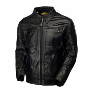 ROLAND SANDS DESIGN City Leather Jacket Man - Black