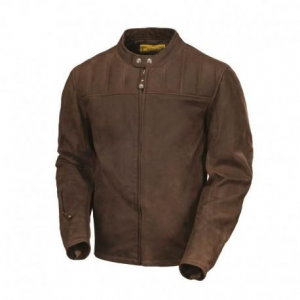 ROLAND SANDS DESIGN Enzo Leather Jacket Man - Brown