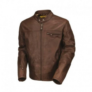 ROLAND SANDS DESIGN RONIN Leather Jacket Man - Tobacco Brown