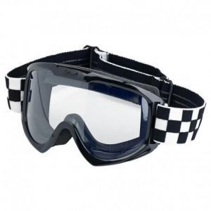 BILTWELL Moto Goggle CHECKERS Motorcycle Goggles - Black