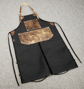 LA ROSA SL-0306 BIKE BUILDER Work Apron - Black and Brown