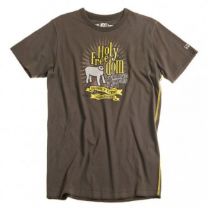 HOLY FREEDOM Brown - Brown T-shirt