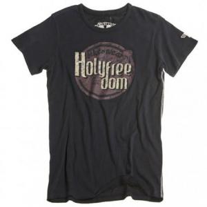 HOLY FREEDOM Logo Black - Black T-shirt