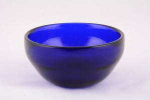 Pisside patena in cristallo di Murano blu