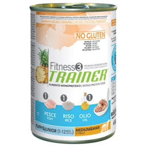 Fitness 3 Puppy Medium/Maxi Pesce umido 400 g